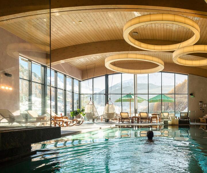 indoor hotel pool
